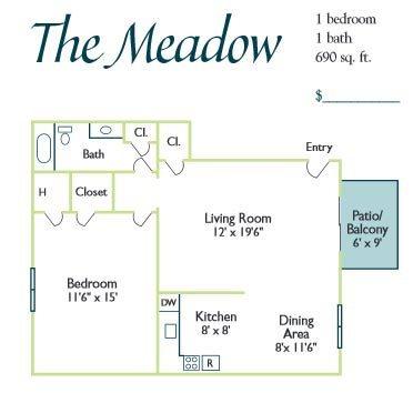 The Meadow Floor Plan 1